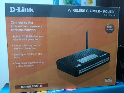 D-Link Wireless G ADSL2+ Router DSL-2640B