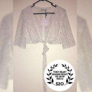 BNWT Toby Heart Ginger Crop