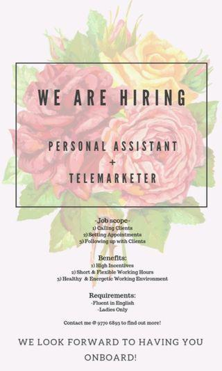 Personal Assistant + Telemarketer