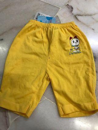 Babies Dorami (3-6m) yellow pants