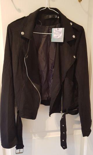 Biker jacket bomber coat velvet suede black formal casual | missguided