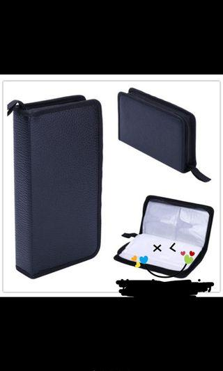Faux leather CD/DVD case 80 discs