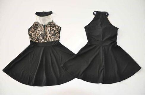 (NEW) Lace Halter Dress
