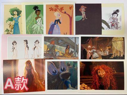 Disney Princess 迪士尼公主 明信片 名信片 postcard 全11款 包郵