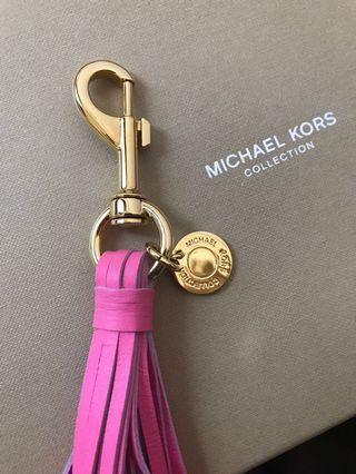 🚚 Michael Kors collection leather bag charm / keychain