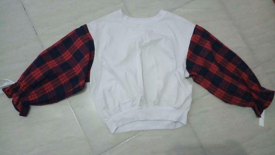 Sweater blouse oversized