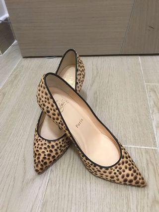 Christian louboutin cheetah heel EU 36