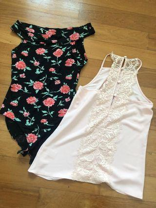 Miss Selfridge tops x 2