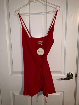 BEGINNING BOUTIQUE Red Mini Dress / SIZE 10