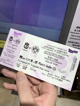 利物浦傳奇賽門票一張 260原價放 利迷區