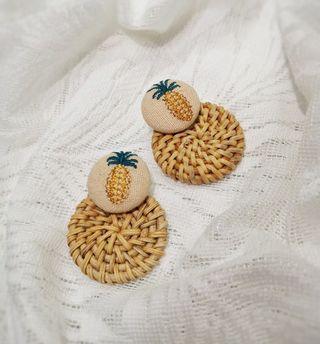 刺繡編織耳環
