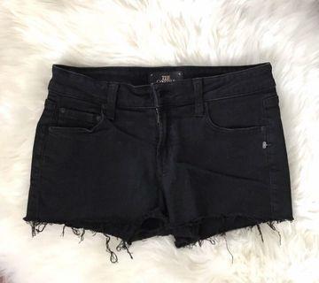 Aritzia The Castings Black Denim Shorts