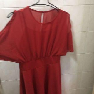 Brand new cold shoulder red dress