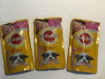 Pedigree Puppy 130 gram (  stok 25 )