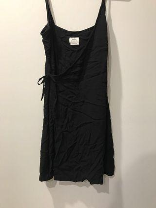 RVCA Little black wrap dress