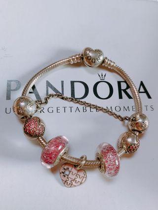 二手Pandora潘朵拉925純銀串珠手鍊