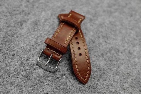Italian Brown Leather Watch Strap