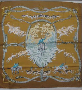 """🚚 Authentic Hermes 100% Silk Dress Scarf """"Le Bien Aller"""" by Jean De Fougerolle 35""""- Excellent condition!"""