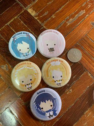 Vocaloid pin badges