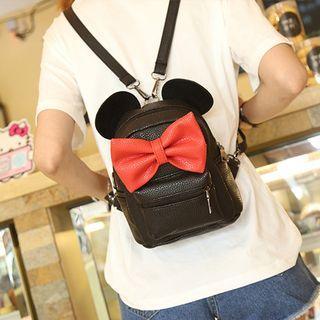 Mickey Backpack Pu Leather Female Mini Bag