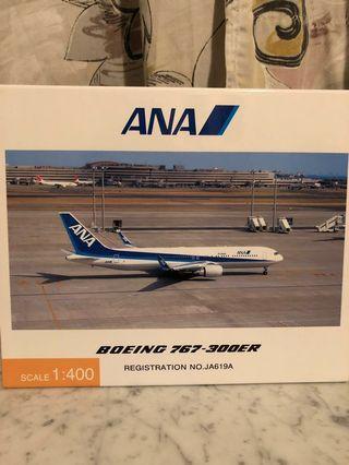 1:400 ANA Official B767-300ER Winglet Normal Livery 日本全日空官方版 勾翼 原色 飛機模型