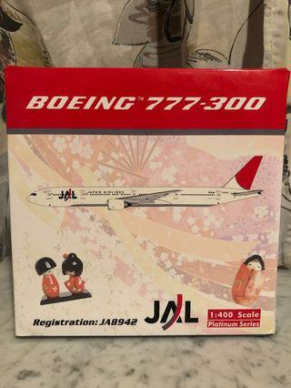 已斷貨 罕有 Rare 1:400 Phoenix PH Japan Airlines JAL Arc of the Sun B777-300 日本航空紅太陽原色 飛機模型