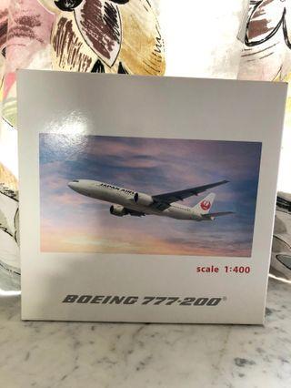 (多圖) 新 靚1:400 日本航空官方Hogan 772 Japan Airlines Official B777-200 飛機模型