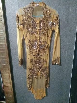 Kebaya Gold Payet like new