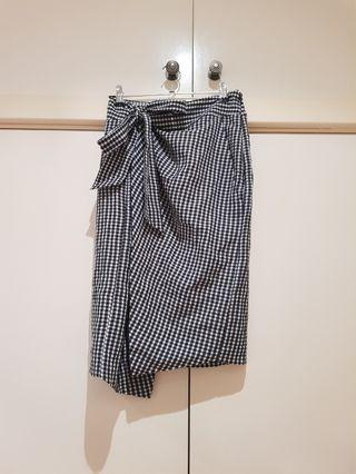 Country Road Gingham Wrap Skirt Size S/8