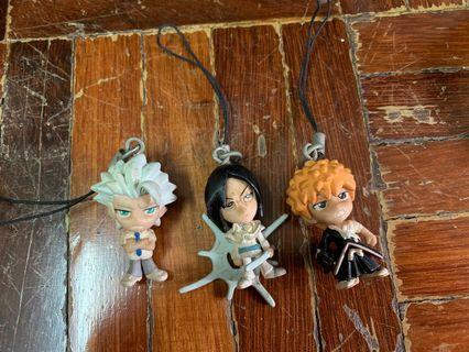 Gashapon Gasha Bleach mini figurine keychains