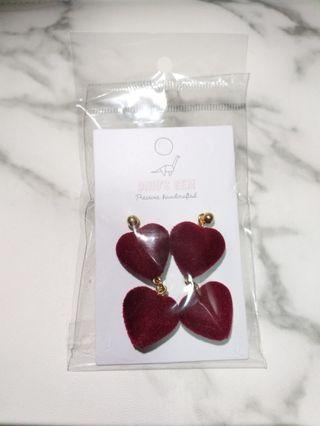 Handcrafted Hearts Earrings