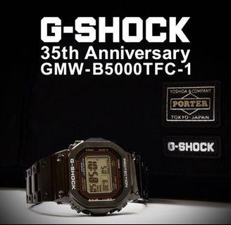 Extremely rare GMW-B5000TFC-1 Casio x Porter 35th Anniversary G-Shock , GMWB5000 , GMW-B5000 , GMWB5000TFC , GMW-B5000TFC , GMWB5000TFC1 , Porter G-SHOCK , Porter gshock , YOSHIDA & COMPANY , CASIO