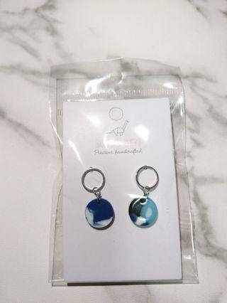 Handcrafted Marble Designed Earrings