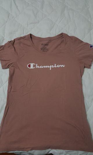 pink champion tshirt