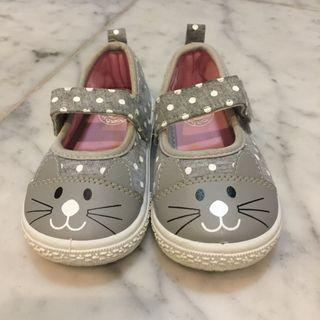 Baby Bubbles Grey Kitty shoes sz Eur 23