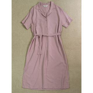 🚚 BN Made in Korea Midi Button Shirt Dress in Dusty Pink