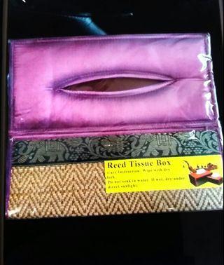 全新 紙巾盒 泰國 大象 盒裝紙巾 紫色 New elephant tissue box thailand