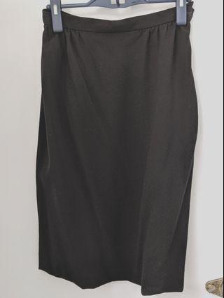 Black Jaeger Wool Skirt