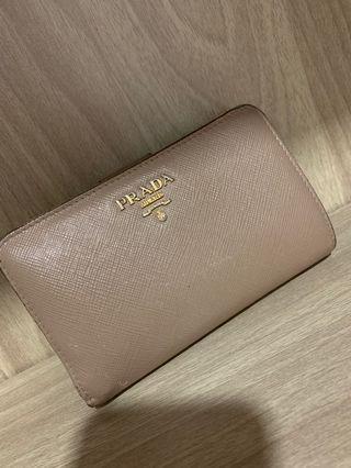 Prada Wallet Preloved Brown