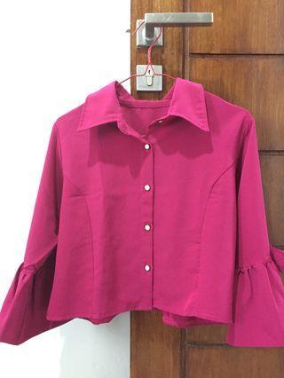 Fuschia pink crop top