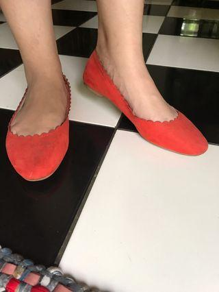Red Flat Shoes H&M