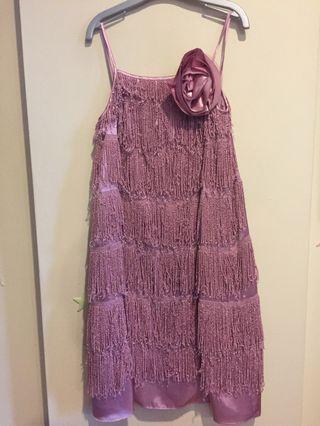 🚚 Very Frayed Purple Shimmy Dress