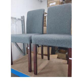 BRAND NEW grey fabric chairs