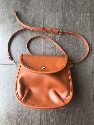 brown korean sling bag