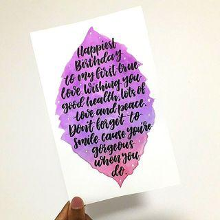 Calligraphy Quote Cards