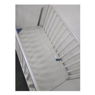 BRAND NEW white baby cot (+mattress)