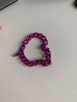 🚚 cool purple chain bracelet