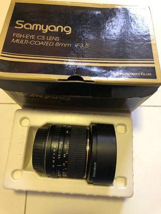 Samyang 8mm f/3.5 Aspherical IF MC fish eye lens