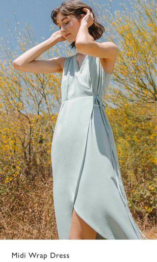 Our second nature midi wrap dress green M