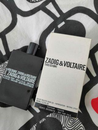 💯% Original Zadig & Voltaire This is him! 100ML EDT (Tester Unit)